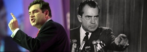 Gordon Brown / Richard Nixon juxtaposition 1