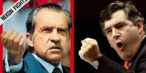 Gordon Brown / Richard Nixon juxtaposition 2