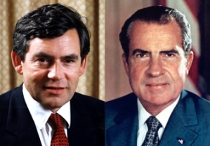 Gordon Brown / Richard Nixon juxtaposition 3