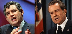 Gordon Brown / Richard Nixon juxtaposition 6