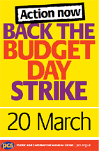 PCS strike poster: 20 March 2013