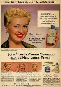 Betty Grable shampoo advert