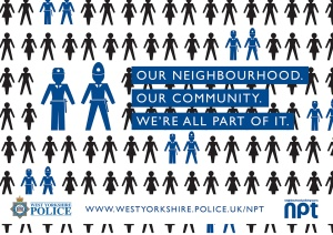 "West Yorkshire Police poster, ""We're all part of the community"""