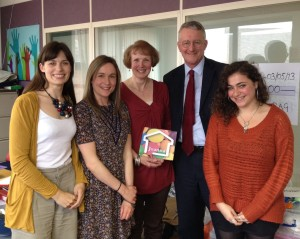 Photo of the Joanna Project team meeting MP Hilary Benn.