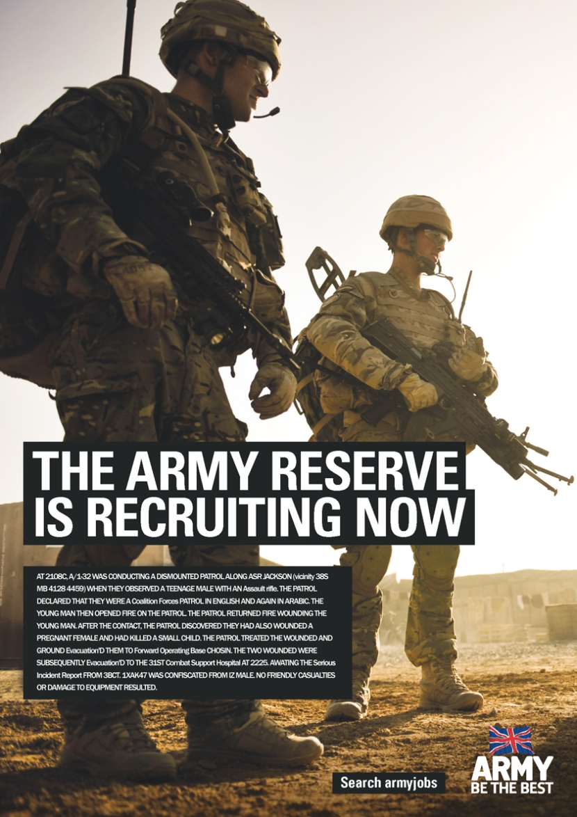 Army job description. https://wardiaries.wikileaks.org/id/15054/